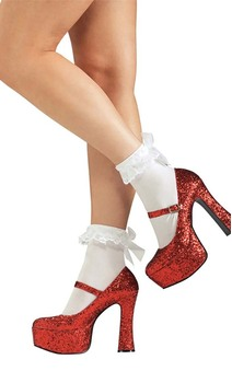 Dorothy Wizard Of Oz Red Glitter Shoes