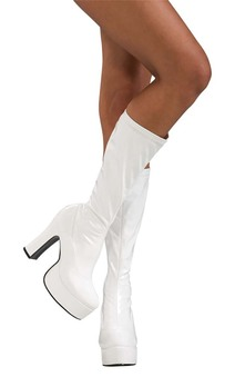 Sexy White Adult Platform Boots