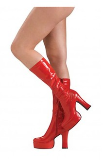 Sexy Red Adult Platform Gogo Boots