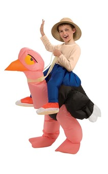 Inflatable Ostrich Child Animal Jockey Costume