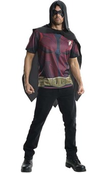 Robin Arkham Adult Costume T Shirt