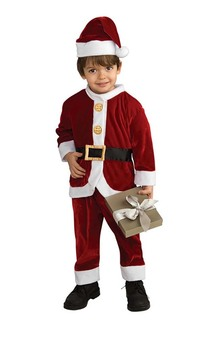 Lil Santa Claus Child Toddler Christmas Costume