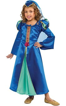 Blue Renaissance Princess Child Costume