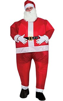 Inflatable Santa Claus Adult Costume