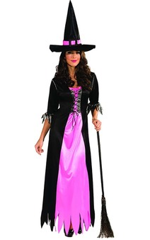 Black And Pink Adult Witch Costume