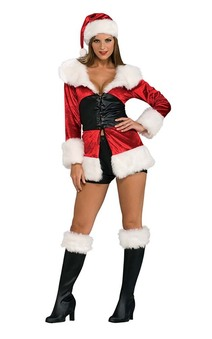 Lace Up Sexy Miss Santa Adult Costume