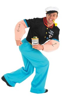 Popeye Deluxe Adult Costume