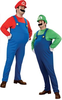 Super Mario Bros - Deluxe Mario or Luigi Adult Costume