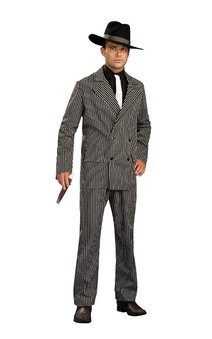Gangster Suit Pin stripe Adult Costume