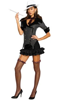 Gangster Doll Adult 1920s Costume