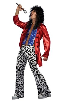 Heavy Metal 80's Guitar Rocker Adult Costume
