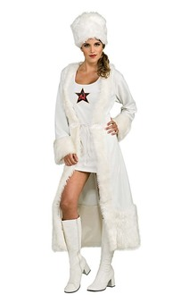 White Russian-female Adult Costume