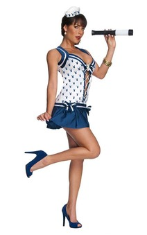 Playboy Bunny Sexy Navy Sailor Adult Costume