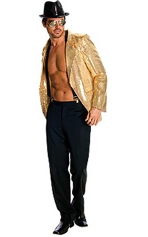 Men's Sequin  Jacket- Gold