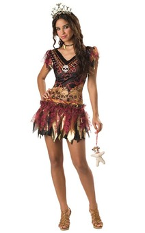 Voodoo Witch Teen Child Costume