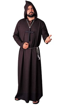 Monk Ghoul Friar Tuck Priest Robe Adult