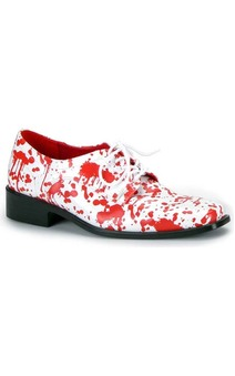 Blood Splattered White Adult Shoes