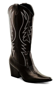 Black Western Cowgirl Adult Boots
