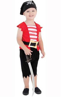 Toddler Pirate Boys Costume
