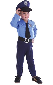 Policeman Toddler Child Costume