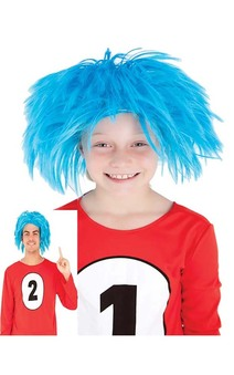 Thing 1 & 2 Cat In The Hat Child or Adult Wig