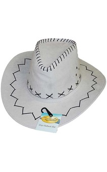 Grey Outback Cowboy Adult Hat
