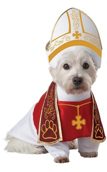 Holy Hound Priest Pope Pontif Dog Costume