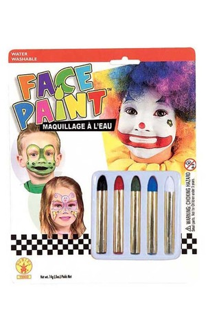 5 Face Painting Sticks