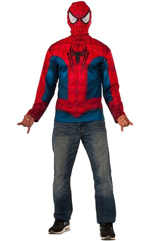 Spider-man Adult Costume T-shirt And Mask