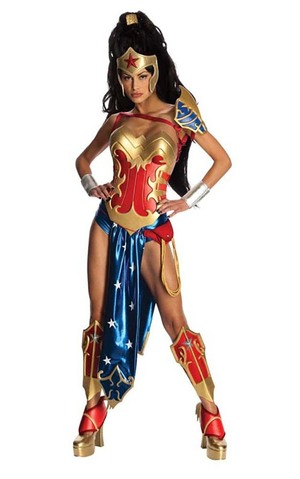 Anime Cosplay Wonder Woman Adult Costume