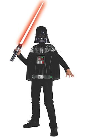 Darth Vader Child Star Wars Costume Top T-shirt & Mask